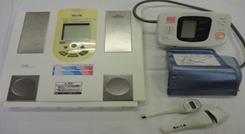 盲人用体温計 音声体温計・体重計・血圧計 測定結果を音声で読み上げます。 盲人用体重計 音声式血圧計
